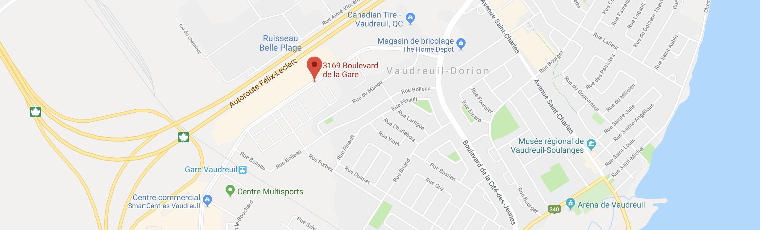 Carte Le Onze de la Gare : 3165 boulevard de la Gare, Vaudreuil-Dorion