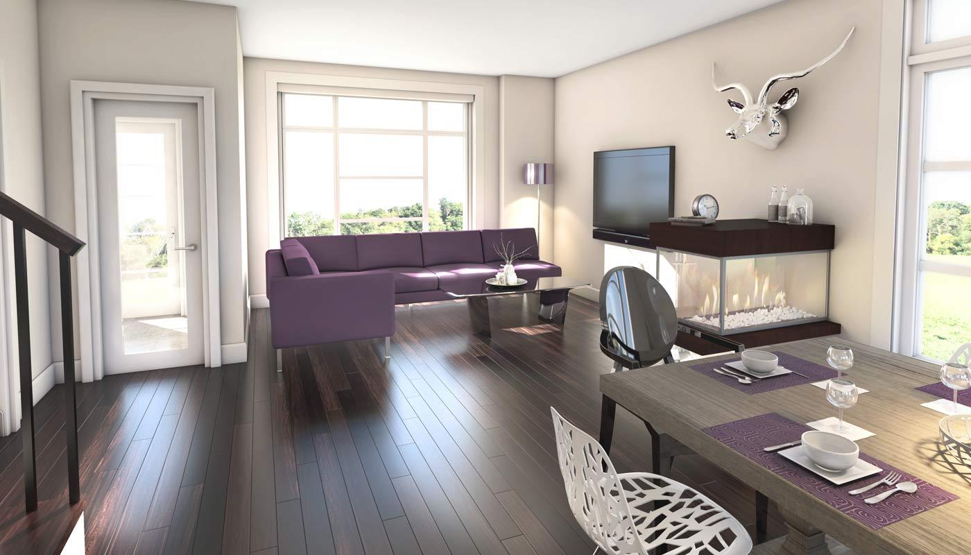 Living room downhouses
