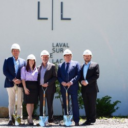 Groundbreaking ceremony of the prestigious residential project Laval-sur-le-lac