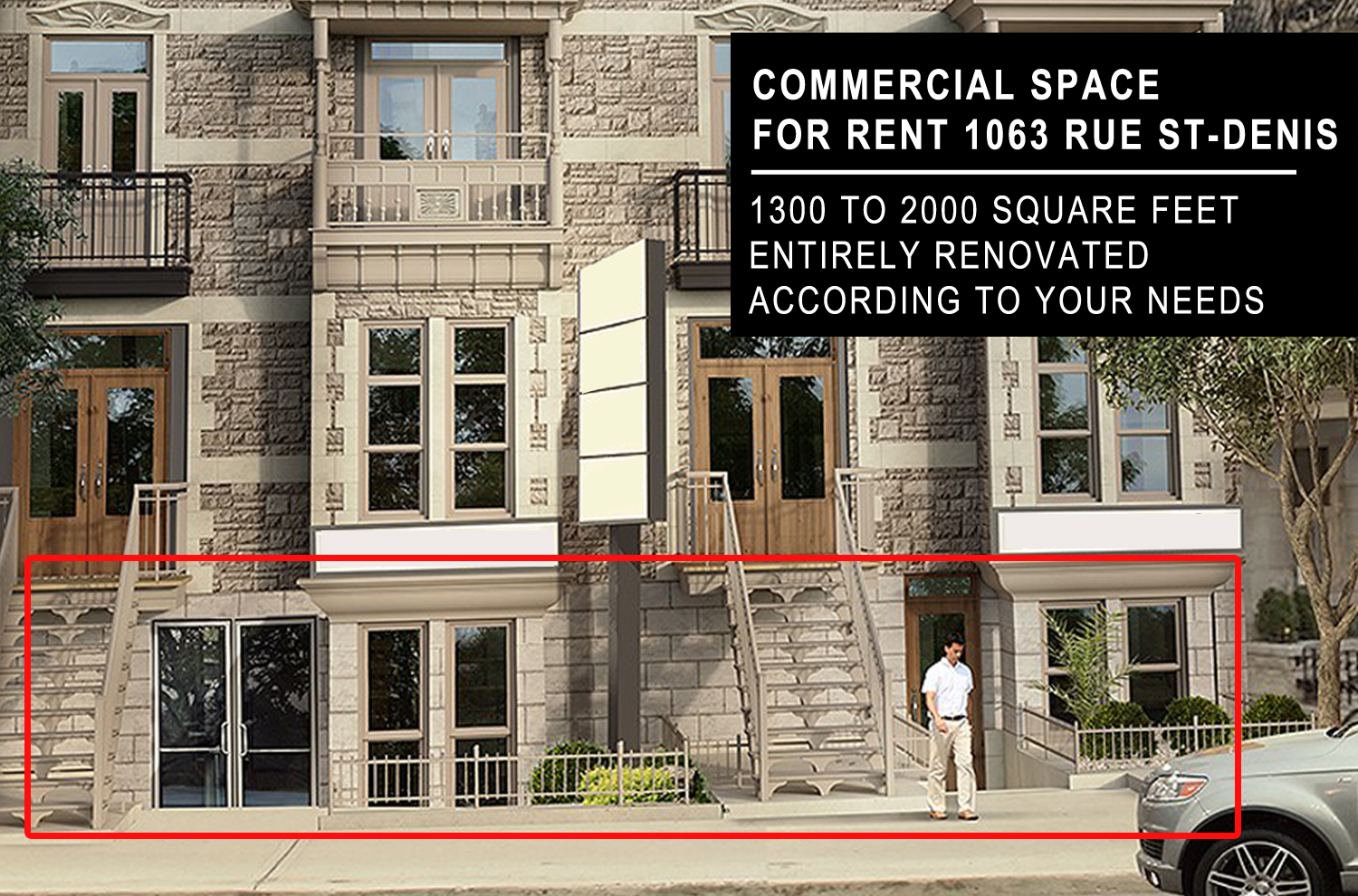 commercial space for rent 1063 rue St-Denis, Montreal