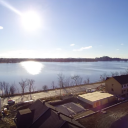 The construction of the Val-des-Ruisseaux townhouses in Duvernay-East, Laval by aerial video.